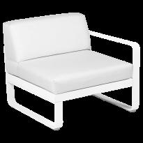 MODULE DROIT BELLEVIE, 1 place, Blanc coton, Coussin Blanc grisé de FERMOB