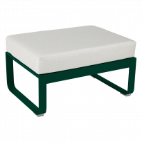 POUF BELLEVIE, Coussin Blanc grisé, Vert cèdre de FERMOB