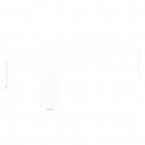TABLE BASSE RECTANGULAIRE BEBOP, H.29, Blanc coton de FERMOB