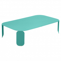 TABLE BASSE RECTANGULAIRE BEBOP, H.29, Bleu lagune de FERMOB