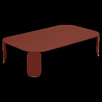 TABLE BASSE RECTANGULAIRE BEBOP, H.29, Ocre rouge de FERMOB