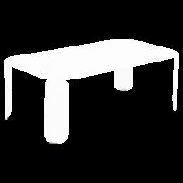 TABLE BASSE RECTANGULAIRE BEBOP, H.42, Blanc coton de FERMOB