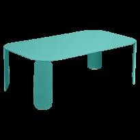 TABLE BASSE RECTANGULAIRE BEBOP, H.42, Bleu lagune de FERMOB