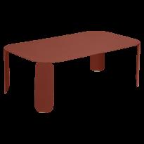 TABLE BASSE RECTANGULAIRE BEBOP, H.42, Ocre rouge de FERMOB