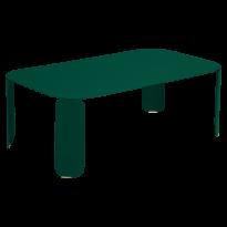TABLE BASSE RECTANGULAIRE BEBOP, H.42, Vert cèdre de FERMOB