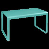 TABLE BELLEVIE, 140 x 80, Bleu lagune de FERMOB