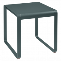 TABLE BELLEVIE, 74 x 80, Gris orage de FERMOB