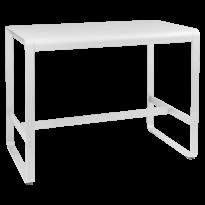 TABLE HAUTE BELLEVIE, 140 x 80, Blanc coton de FERMOB