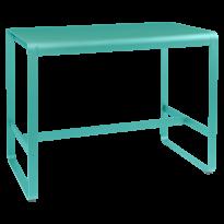 TABLE HAUTE BELLEVIE, 140 x 80, Bleu lagune de FERMOB