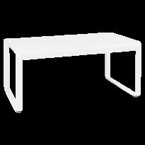 TABLE MI-HAUTE BELLEVIE, 140 x 80, Blanc coton de FERMOB
