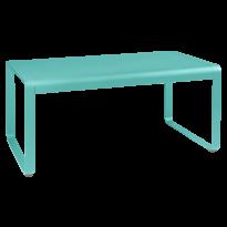 TABLE MI-HAUTE BELLEVIE, 140 x 80, Bleu lagune de FERMOB