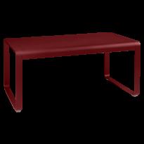TABLE MI-HAUTE BELLEVIE, 140 x 80, Piment de FERMOB
