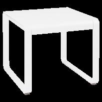TABLE MI-HAUTE BELLEVIE, 74 x 80, Blanc coton de FERMOB
