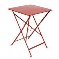 TABLE PLIANTE BISTRO 57 X 57CM COQUELICOT de FERMOB