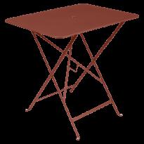 TABLE PLIANTE BISTRO 77 X 57CM, Ocre rouge de FERMOB