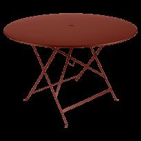 TABLE PLIANTE BISTRO 117CM, Ocre rouge de FERMOB