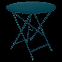 TABLE PLIANTE BISTRO 77CM, Bleu acapulco de FERMOB