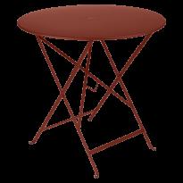 TABLE PLIANTE BISTRO 77CM, Ocre rouge de FERMOB