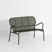 Sofa double WEEK-END de Petite Friture, Vert Bouteille