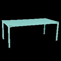TABLE CALVI Bleu lagune de FERMOB