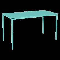 TABLE HAUTE CALVI Bleu lagune de FERMOB
