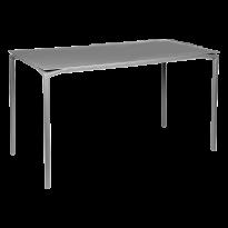 TABLE HAUTE CALVI Gris métal de FERMOB