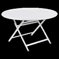 TABLE RONDE CARACTÈRE, Blanc coton de FERMOB
