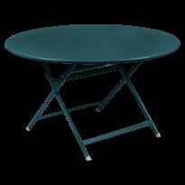 TABLE RONDE CARACTÈRE, Bleu acapulco de FERMOB