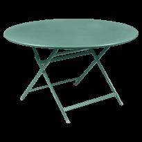 TABLE RONDE CARACTÈRE, Bleu lagune de FERMOB