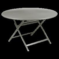 TABLE RONDE CARACTÈRE, Gris métal de FERMOB