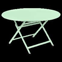 TABLE RONDE CARACTÈRE, Vert opaline de FERMOB
