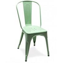 Chaise A de Tolix acier laqué, Vert anis