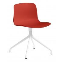 CHAISE AAC10, Piétement en aluminium teinté blanc, Warm red de HAY