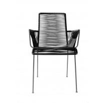 Chaise MAZUNTE COCOON de Boqa avec structure noir, 12 coloris