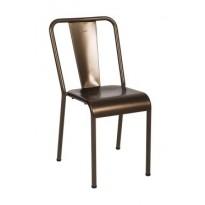 Chaise T37 de Tolix, Bronze mat