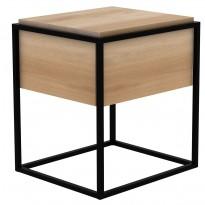 TABLE DE CHEVET MONOLIT, Chêne et noir d