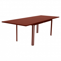 TABLE A ALLONGE COSTA, Ocre rouge de FERMOB