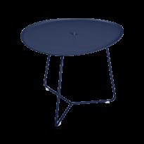 TABLE BASSE COCOTTE bleu abysse, de FERMOB