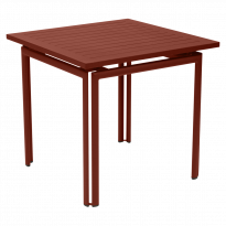 TABLE CARRÉE COSTA, Ocre rouge de FERMOB