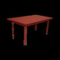 TABLE 160 X 80 COSTA Ocre rouge de FERMOB