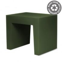 TABOURET CONCRETE SEAT, Recyclé, Vert forêt de FATBOY