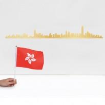 SKYLINE HONG KONG 50CM, Doré de THELINE