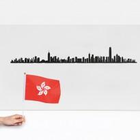 SKYLINE HONG KONG 50CM, Noir de THELINE