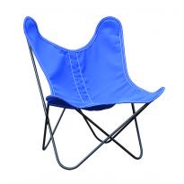 Fauteuil enfant BB by Airborne, Structure acier thermolaqué noir, Bleu outremer