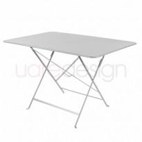 TABLE PLIANTE BISTRO 117 X 77CM GRIS MÉTAL de FERMOB