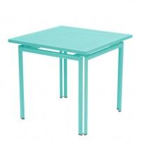 TABLE COSTA 80X80CM BLEU LAGUNE de FERMOB
