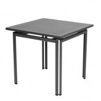 TABLE COSTA 80X80CM CARBONE de FERMOB