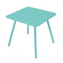 TABLE CARRÉE 4 PIEDS LUXEMBOURG 80 x 80 cm, Bleu lagune de FERMOB