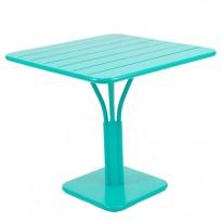 TABLE CARRÉE LUXEMBOURG 80x80 cm, Bleu lagune de FERMOB