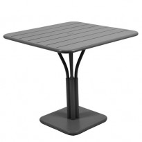 TABLE CARRÉE LUXEMBOURG 80x80 cm, Carbone de FERMOB